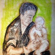 Artist's Infant Daughter and Grandmother II
