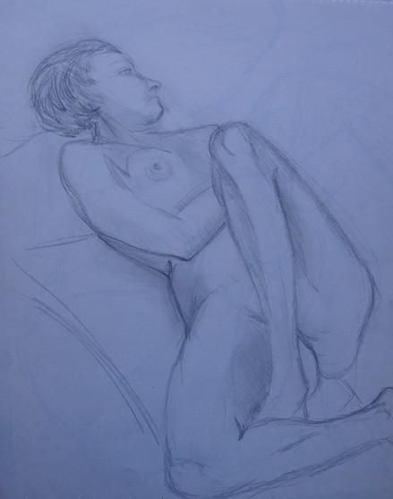 Life Study: Female Reclining Nude