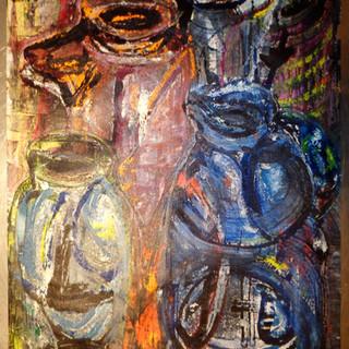 Still Life - Jugs & Bottles I