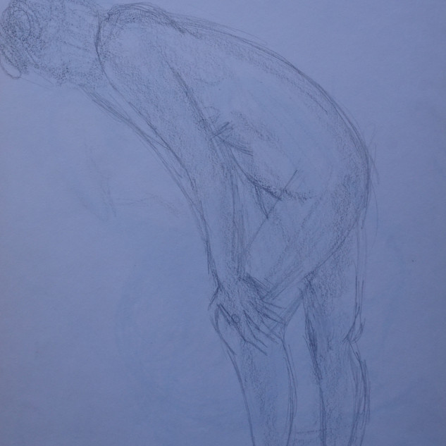 Life Study: Female Standing Nude & Study of the Face