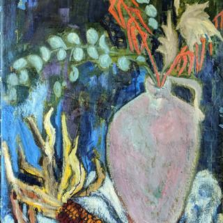 Purple Vase, Ears of Corn