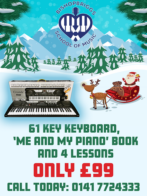 CHRISTMAS - KEYBOARD + BOOK + LESSONS