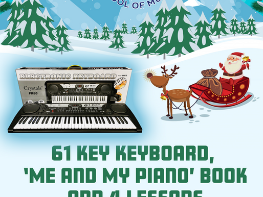 CHRISTMAS KEYBOARD/LESSONS SPECIAL OFFER COMBO