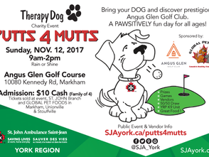 "St. John Ambulance, York Region Therapy Dog ""PUTTS 4 MUTTS"" Charity Event"