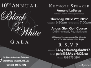 St. John Ambulance, York Region 10th Annual Black & White Charity Gala