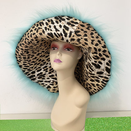 Adriana Hot Couture faux fur hat with leopard lining