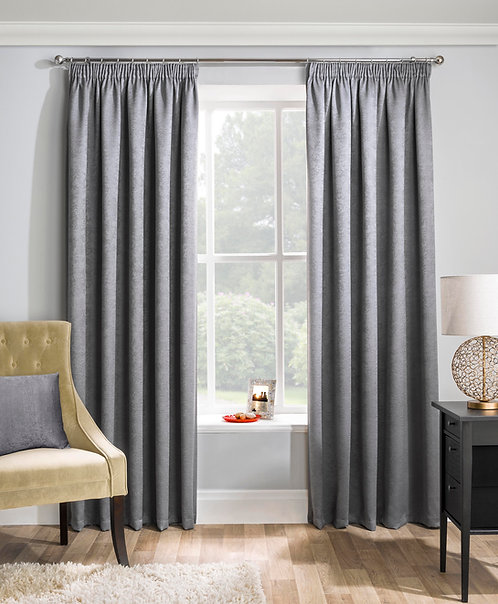 Tyrone Textiles - Enhanced Living - Matrix Grey Ready Made Curtain