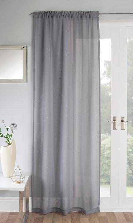 Tyrone Textiles - Jewel Grey Voile Panel