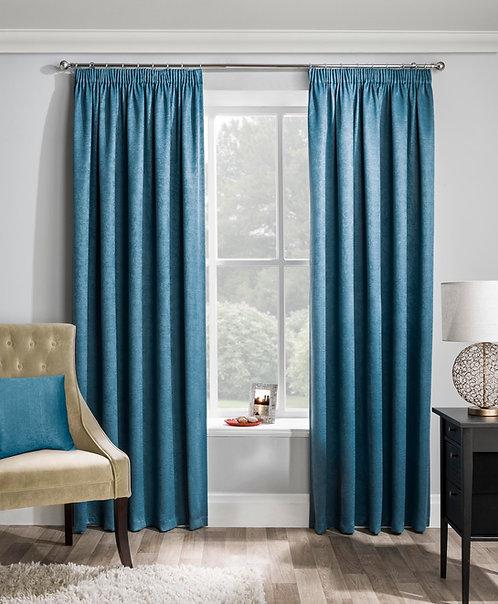 Tyrone Textiles - Enhanced Living - Matrix Teal Ready Made Curtain