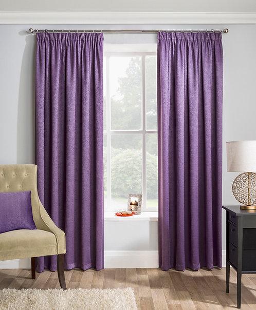 Tyrone Textiles - Enhanced Living - Matrix Grape Ready Made Curtain