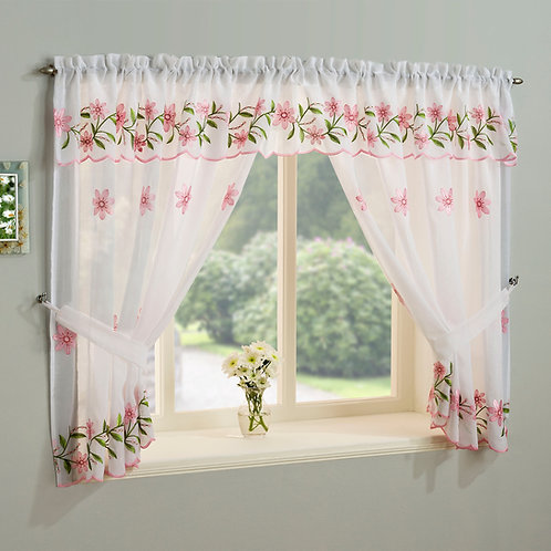 Daisy Pink Window Set