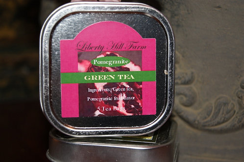 Pomagranate Green Tea