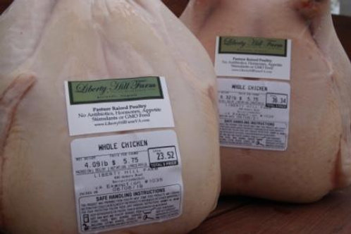 Whole Chicken - $5.75/lb. (3-6 pounds)