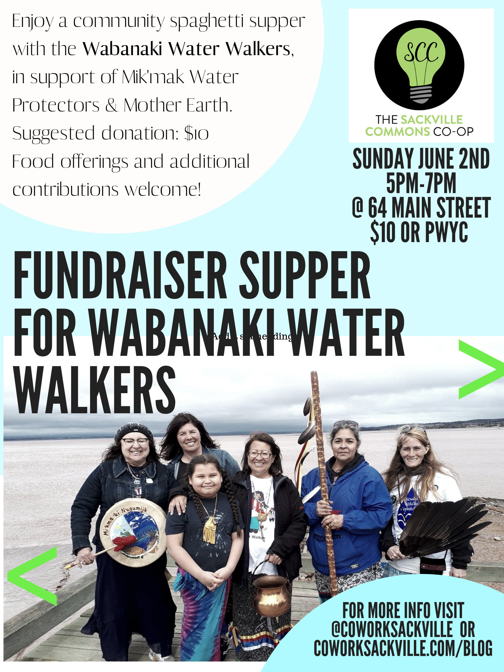 Fundraiser Supper for the Wabanaki Water Walkers