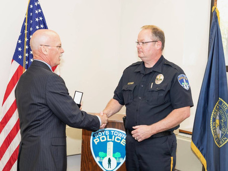 Red Cross Honors Boys Town Police Chief For Saving a Life