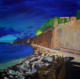 Old San Juan. Acrylic_ 48 x 48