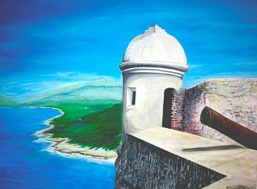 Cuba's Fort. Acrylic_ 30 x 40