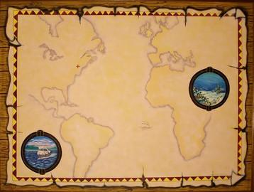 Map. Acrylic_ 30 x 40