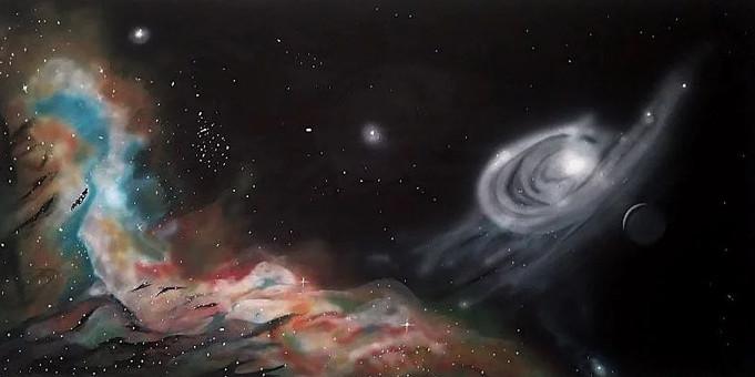 Deep Space. Acrylic_ 24x 40