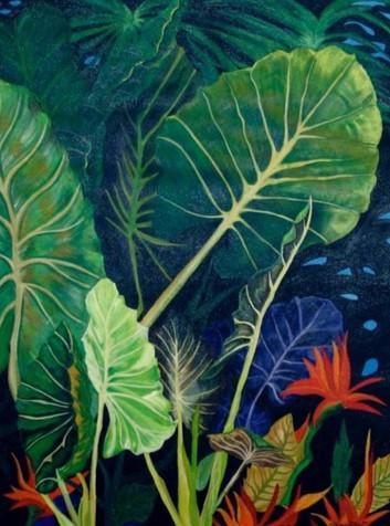 Tropical Jungle  Acrylic: 30x 40