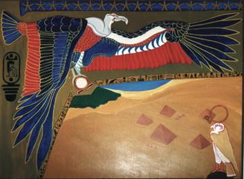 The Protector of Egypt Acrylic: 30 x 40