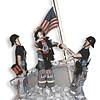 United Sates Postal Stamp Collage Figurines
