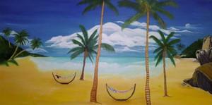 PR Beach. Acrylic_ 24x 36