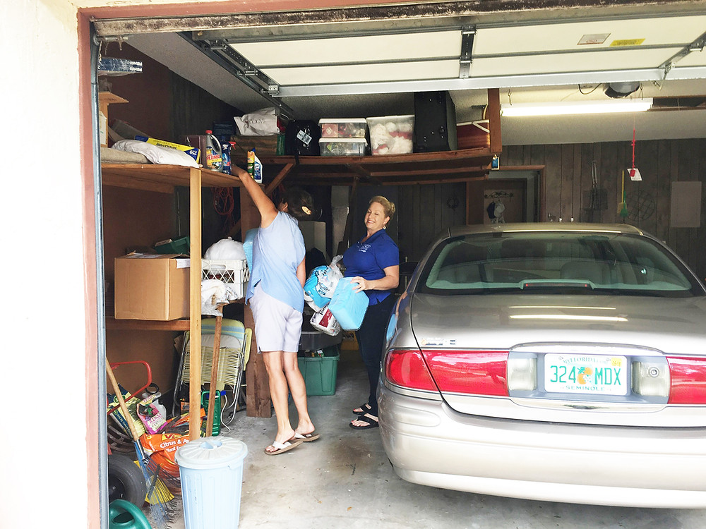 moving storage out of a garage