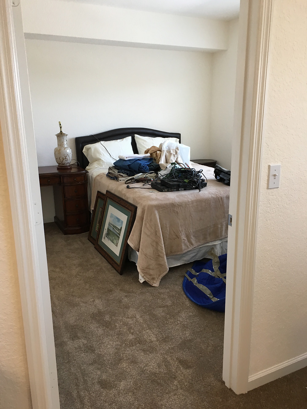 bedroom in moving process