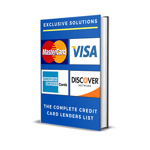 The Complete Credit Card Lender List