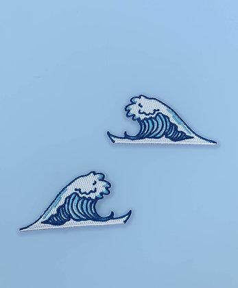 Broderie thermocollante duo de vagues