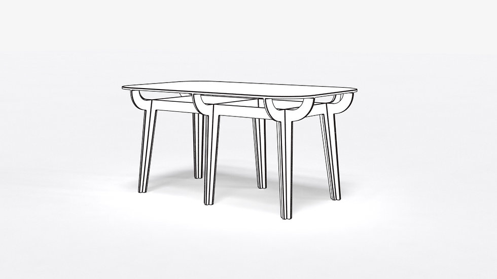 Table rectangle 1500