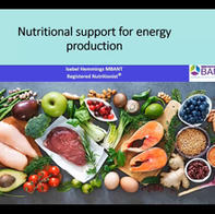 Nutritional support for energy production - Isabel Hemmings