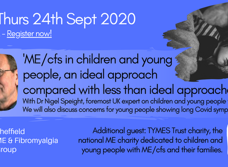 ONLINE TALK: ME/cfs in Children and young people - Dr Nigel Speight