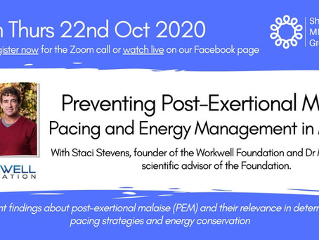 ONLINE TALK: Preventing Post-Exertional Malaise – Pacing and Energy Management in ME/CFS