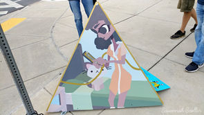 Wheaton Arts Parade Commission (painting by Savannah Scollar)
