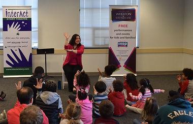 Ali Oliver-Krueger leads a Family Literacy Fiesta in 2018