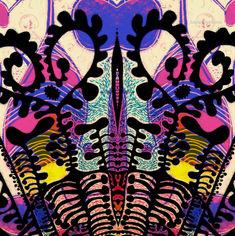 Fleurette Africaine 5 (by Sandra Pérez-Ramos, ink, acrylic pen, then altered digitally)
