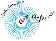asap graphics + interiors 360° Logo