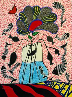Todo Bien/PEZadilla (by Sandra Pérez-Ramos, Ink, acrylic pen, watercolor pen)
