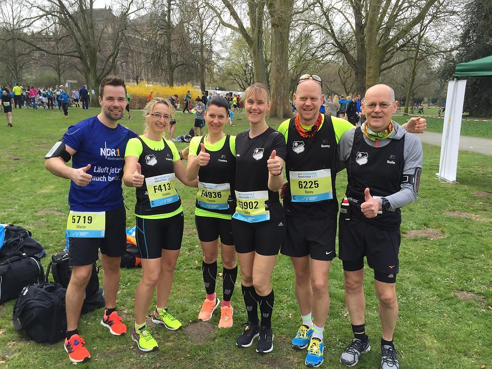 Kurz vor dem Hannover Marathon