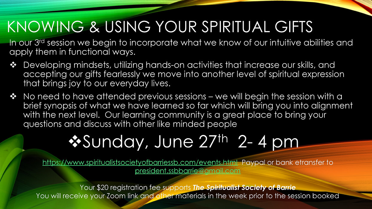 Knowing and Using Your Spiritual Gifts P