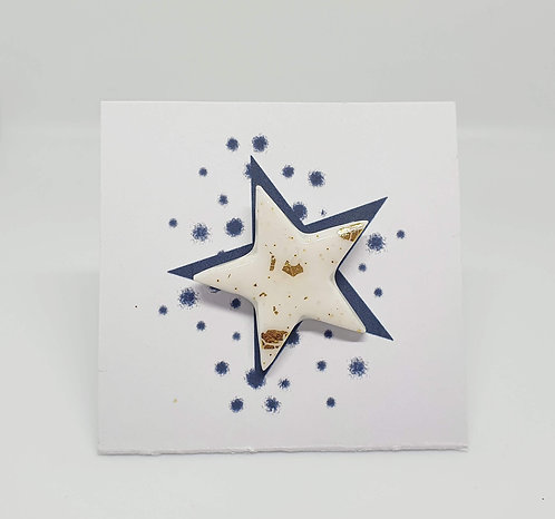 'Snowball' Star Pin Badge 3cm