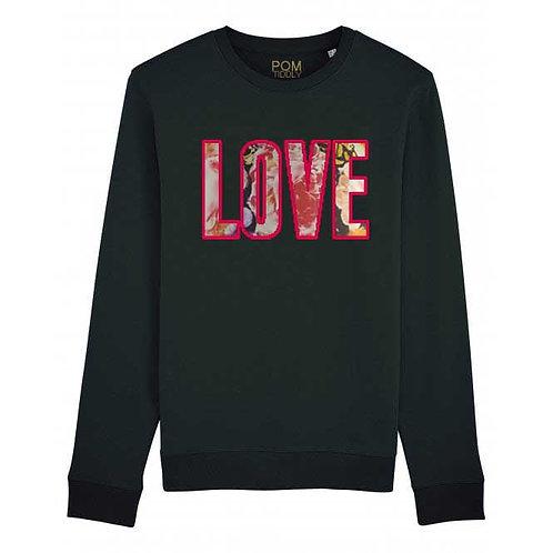 Love Floral Sweatshirt Black