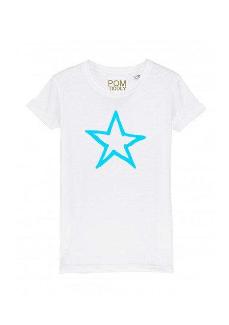 Womens Neon Blue Star Tee