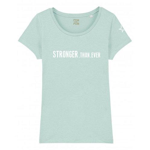 Womens Lightweight Stronger.Than.Ever Tee Pale Blue
