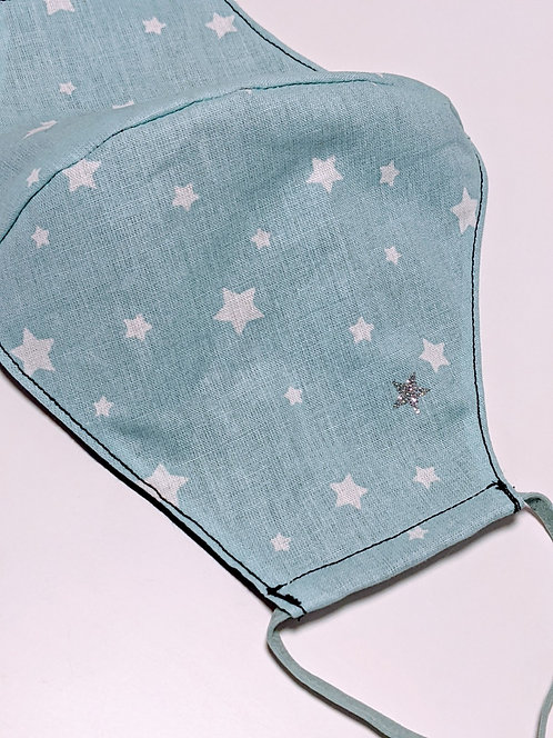 Mint Stars Face Covering