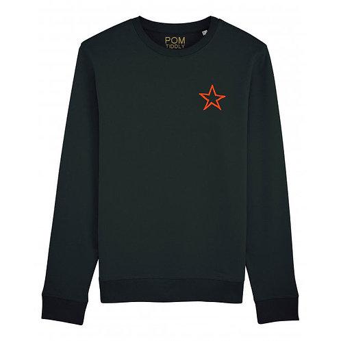 Star Sweatshirt Black (small left chest)