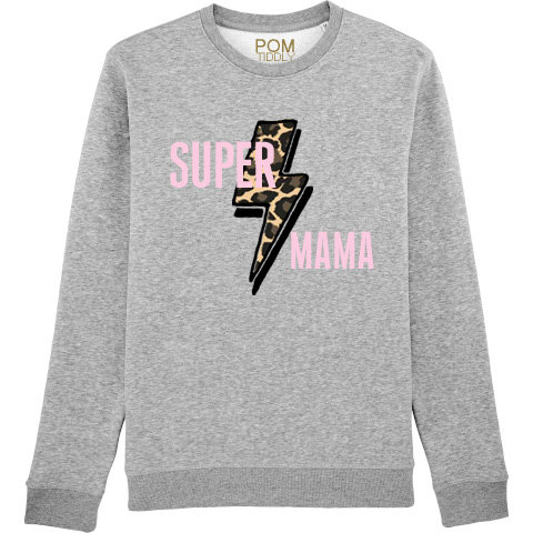 Super Mama Gold Leopard Sweatshirt