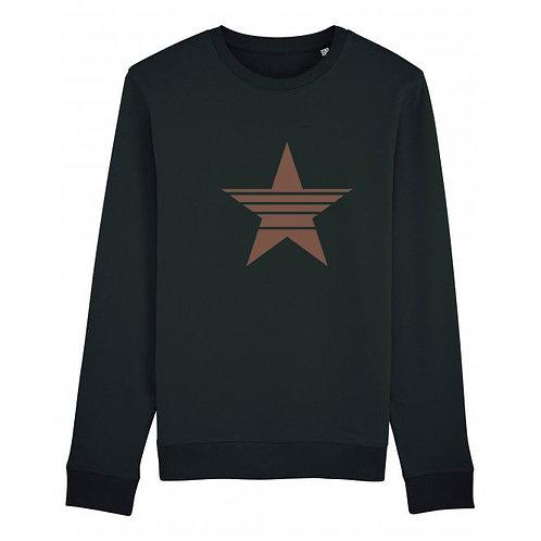 Strikethrough Star Sweatshirt Black